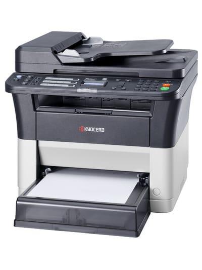 Лазерный копир-принтер-сканер-факс Kyocera FS-1125MFP (А4, 25 ppm, 1200dpi, 25-400%, 64Mb, USB, Network, цв. сканер, факс, дуплекс, автоподатчик, пуск. комплект)